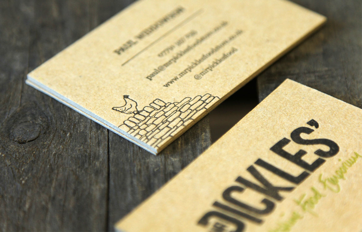 Print by tonik graphic design portfolio mr pickles yorkshire business card design sheffield business card printing sheffield reheart Images